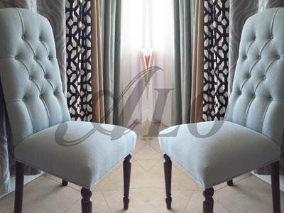 HOW TO UPHOLSTER A DINING ROOM CHAIR WITH BUTTONS. - ALOWORLD