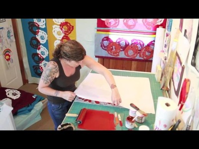Ink and Block Printing with Valori Wells