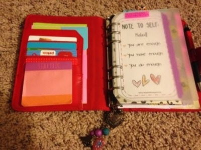 My updated faux filofax. franklin covey planner