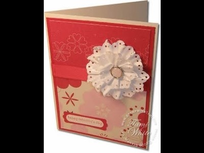 Paper Flower Rosettes featuring Stampin Up products