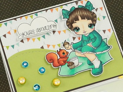 Picnic Sophie - Copic Colouring & Card Tutorial