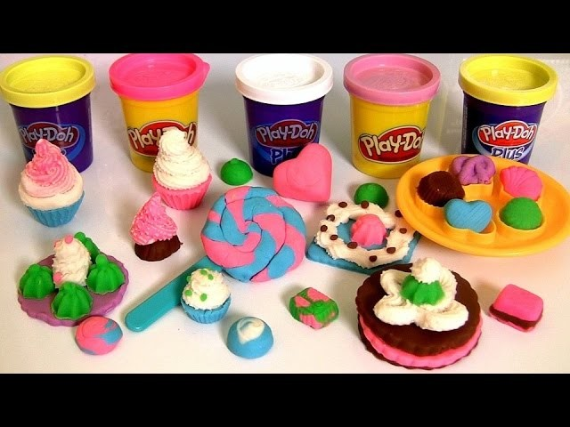 Play Doh Colorful Candy Box Sweet Shoppe ❤ How to Make Lollipops Cookies Cupcakes by FunToys