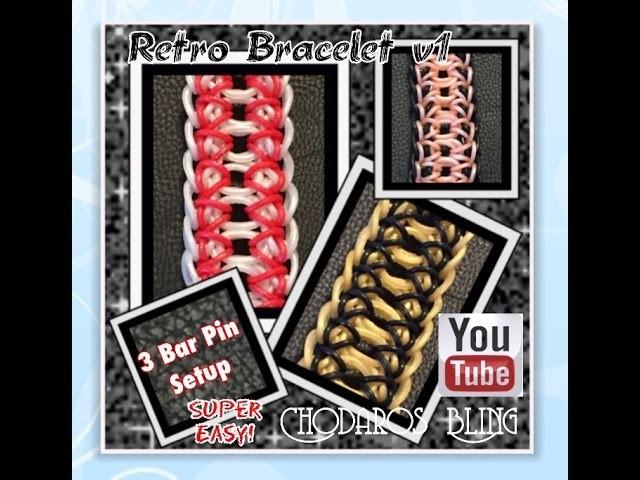 Rainbow Loom Band Retro Bracelet V1
