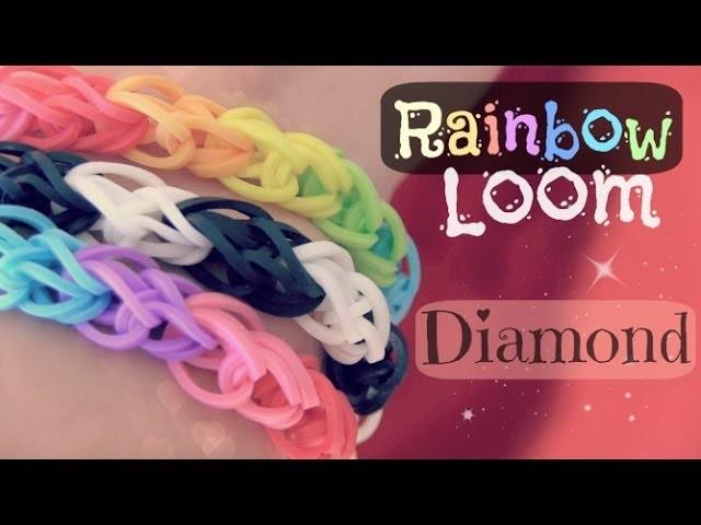 Rainbow Loom : Diamond Bracelet - How To - One Loom