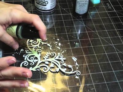 Swirlydoos Kit Club: Distressed Embossed Chipboard Tutorial