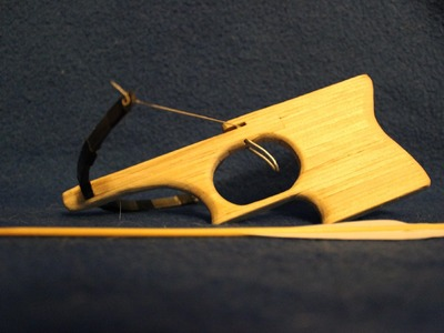 Tutorial on how to make The Popsicle Stick Crossbow! Real prod! 5lbs