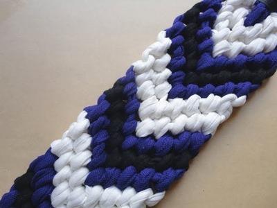 Tutorial XL para hacer pulseras de nudos V. V-shape knot bracelet XL Tutorial