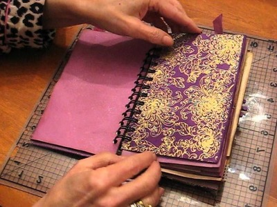 Vintage Sweet Violet Journal made from an old French book