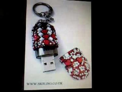 WWW.NKBLING.CO.UK - Bling hand made rings, necklaces, keyrings, bangles, usb sticks