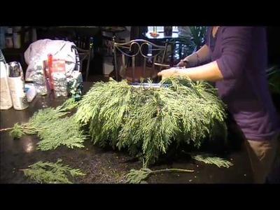 Christmas Decor - Decorative Porch Planter