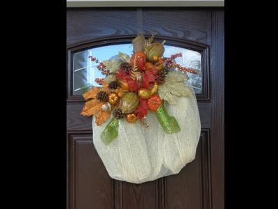 Deco.Geo Mesh Fall Pumpkin Wreath Tutorial