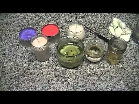 DIY:  How to remove candle wax so you can reuse containers