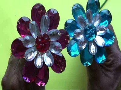 Flower making with kundan stones