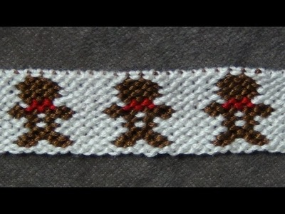 ► Friendship Bracelet Tutorial - Advanced - Gingerbread Boys (original)