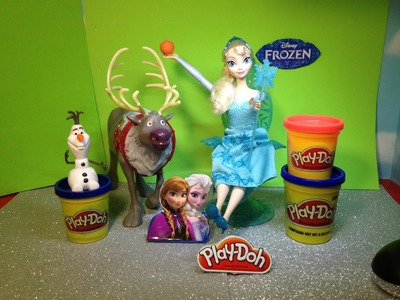 FROZEN PLAY-DOH Tutorial How to Make Elsa Golden Orb Play Doh Frozen Playset Toy