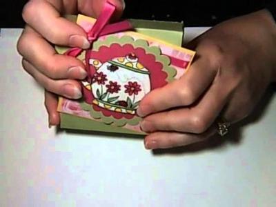 Gift Box Tea Bag Holder by Sheryl Cauble.wmv