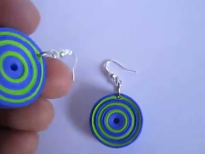 Handmade Jewelry - Paper Quilling Round Earrings