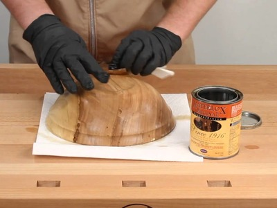 How to apply a Waterlox finish (Woodturning Tips and Techniques)