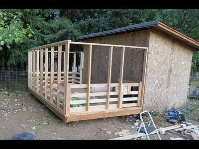 How to build an outdoor pig pen