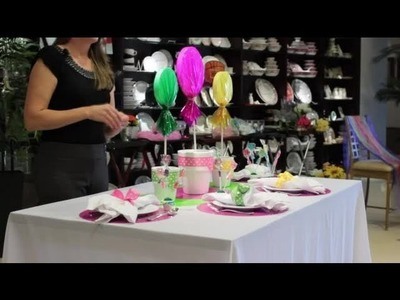 How to Decorate a Table With Lollipops : Table Designs