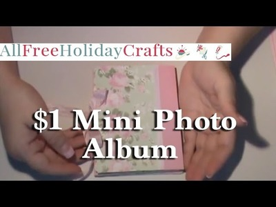How to Make a $1 Mini Photo Album