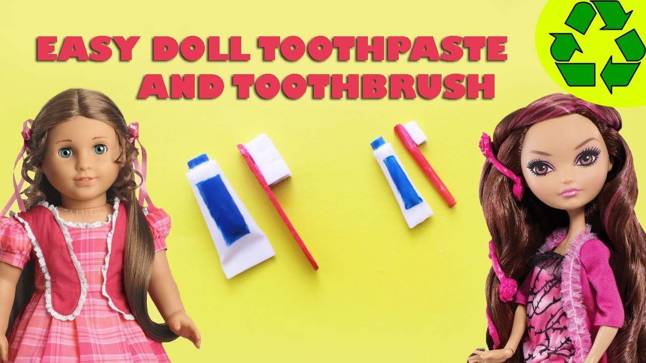 How to make a doll toothbrush and toothpaste