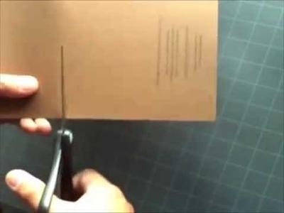 "How to Make a Kirigami ""Gemini"" Pop-up Card"