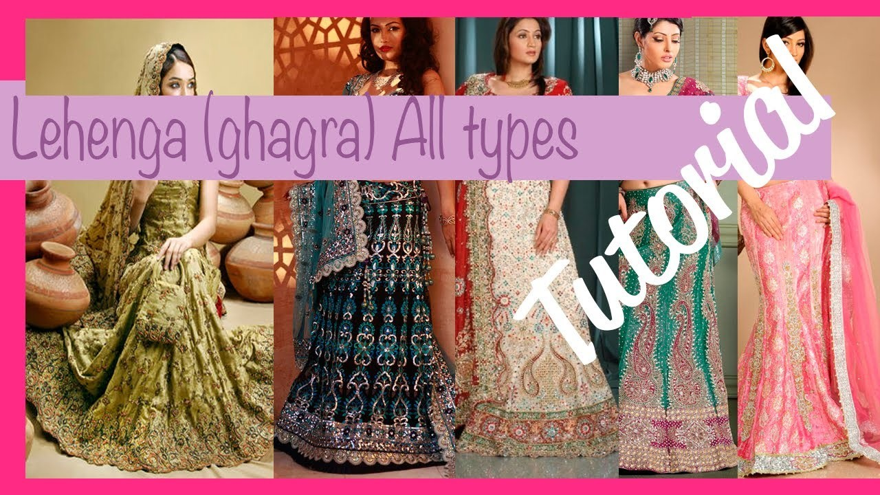 ☁ How to make a lehenga (ghagra) ♥  All types ♥