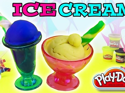 How to make a Play Doh ice cream with the perfect twist playset -- plastilina con supercool4kids