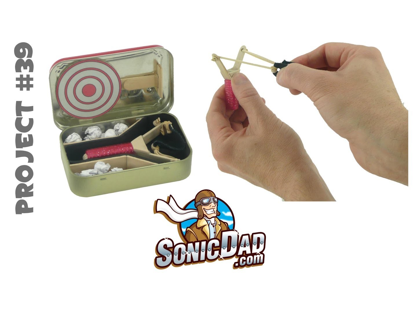 How to Make a Slingshot from Popsicle Sticks and Altoids - SonicDad Project #39: Micro Slingshot