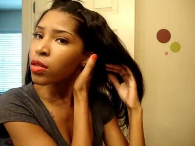 How To make a U Part Wig. with Wig Combs Ft. Virgin brazilian hair