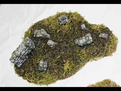 How to make easy swamp terrain for table top war games