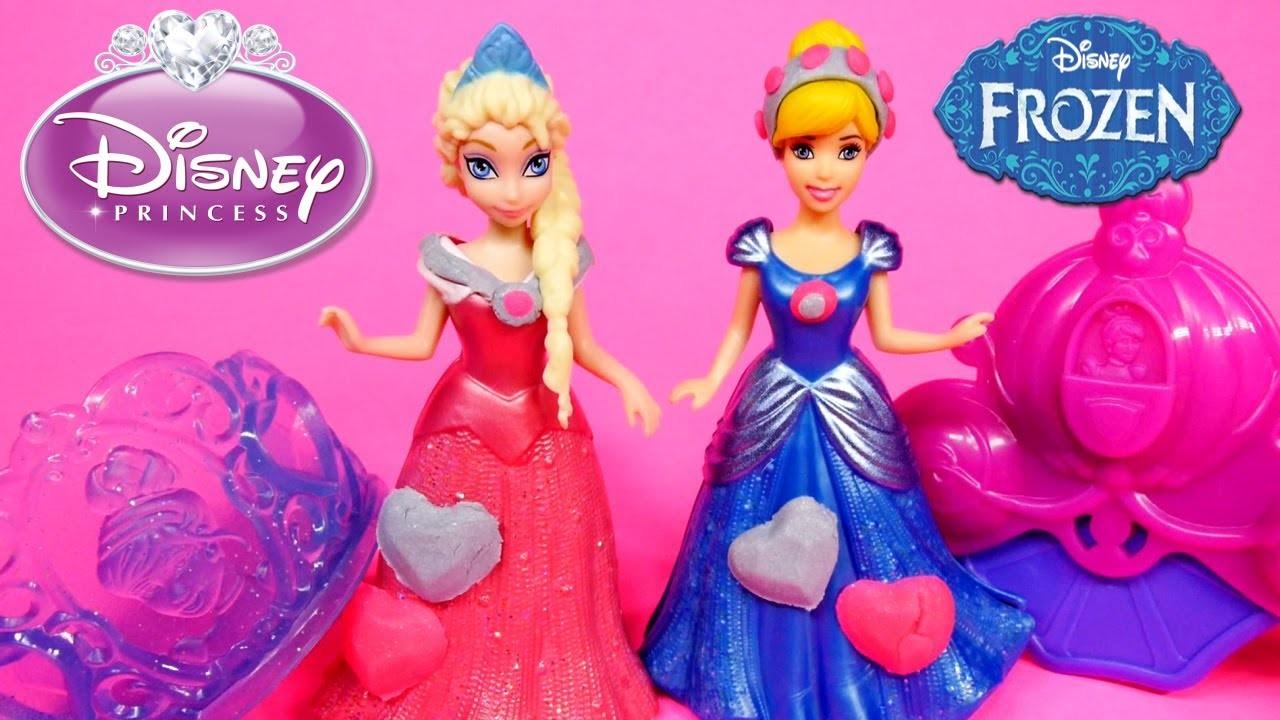 How To Make Play Doh Disney Princess Dress Decorations PlayDough Disney Frozen Elsa