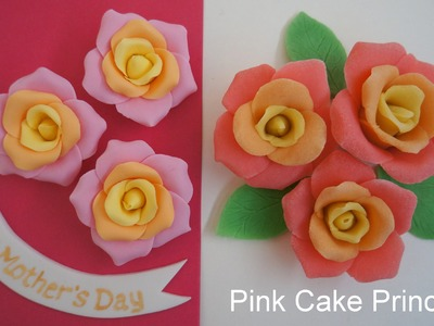 How to Make Play-Doh Roses & Fondant Roses for a Mother's Day Cake