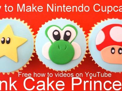 How to Make Star & Mushroom Cupcakes! Nintendo Super Mario Bros & Yoshi's New Island theme Cupcakes