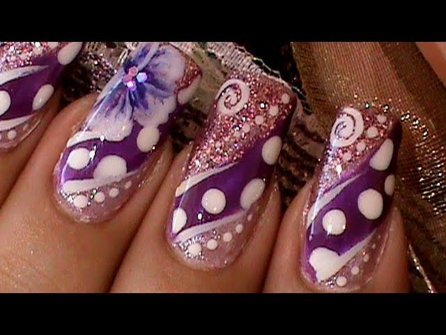 How to Paint A One Stroke Flower Nail Art Design Tutorial