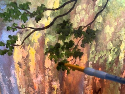 How to Paint with Oil Paint : How to Paint a tree with Oil Paint