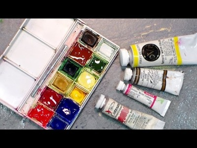 How To Refill Your Travel Watercolor Palette {and get every drop of paint out of a tube!}