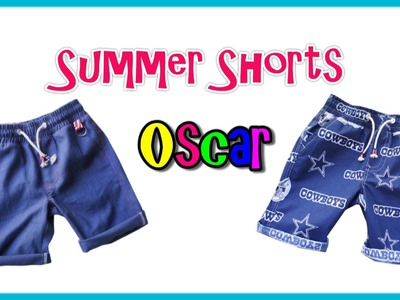 How to sew Shorts - Step by step Tutorial (Oscar Pattern)