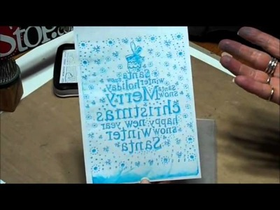 Ink and Letterpress with embossing folders