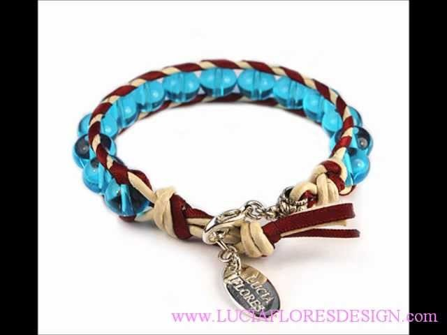 Leather Wrap Bracelets - Spring.Summer Jewelry Collection 2012 Lucia Flores Design