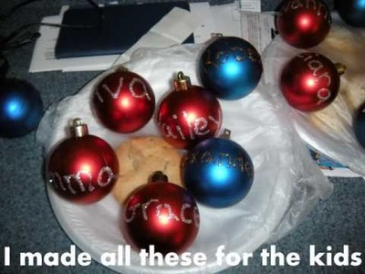 Make your own Christmas ornaments!