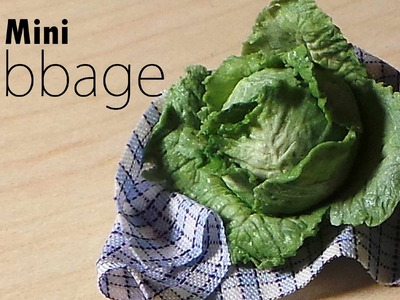 Miniature Food; Cabbage.Lettuce Polymer Clay Tutorial