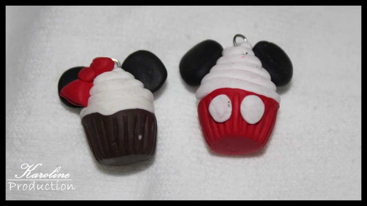 Minnie And Mickey Mouse Cupcakes||Polymer Clay