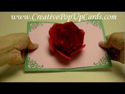 Mother's Day Rose Pop Up Card