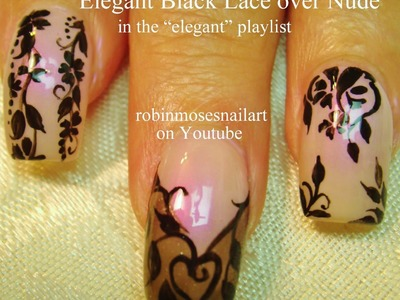 Nail Art Tutorial | DIY Black Lace Nails | Easy Flower Nail Design