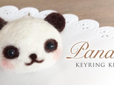 Panda Keyring Kit - Needle Felt Tutorial with ASMR