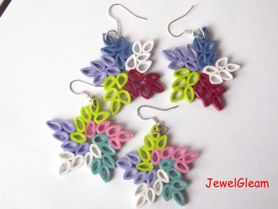 Paper Quilled Star Earrings Tutorial
