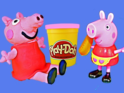 Play Doh Peppa Pig How To Make Peppa Pig with Play Dough 3D Peppa Pig Playdough Figure DisneyCarToys