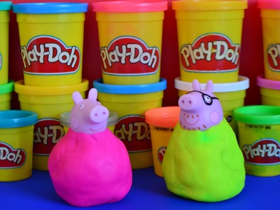 Play-Doh Peppa Pig Weebles How to Make your own Play-doh Peppa pig Playdough creative ideas